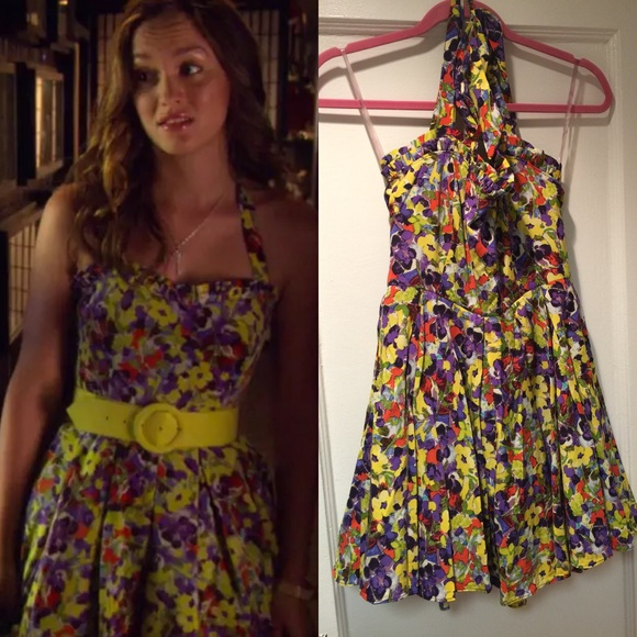 b60f74f5d Alice + Olivia Dresses & Skirts - Alice + Olivia floral halter dress 4  Blair Waldorf